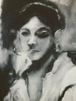 """First portrait after JSSargent 2016 18""""x24"""" charcoal"""
