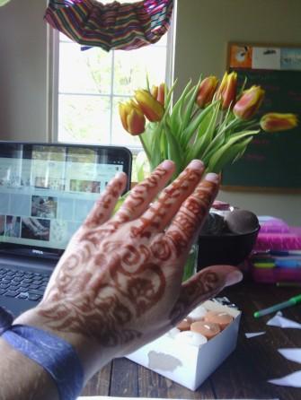 Henna on my left hand 2013