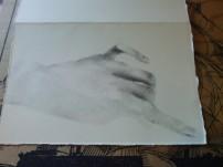 "Hand Study 2014 4""x6"" graphite"