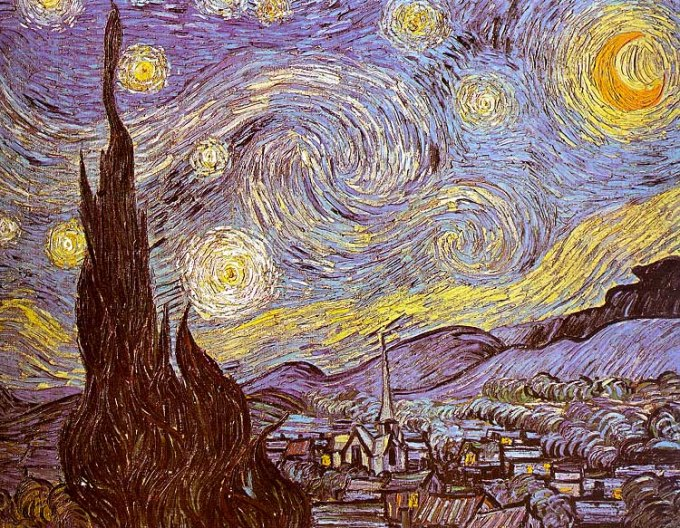The Starry Night 1889 Oil on canvas 73.7 x 92.1 cm (29.02