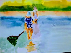 """Fishers of Men 2018   9"""" x 12"""" watercolor on paper"""