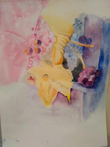 """""""Vineyard"""" 2019 12""""x15"""" Watercolor"""