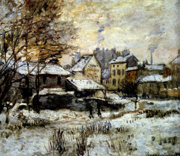 Claude Monet French 1840 - 1926 Snow Effect With Setting Sun 1875 Oil on canvas